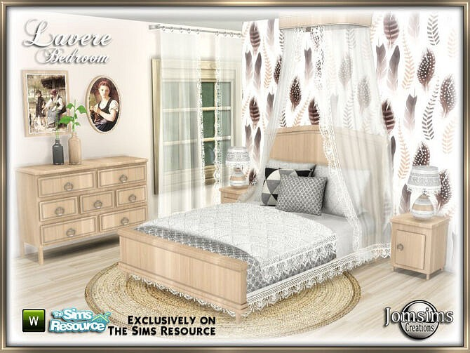 Sims 4 Lavere bedroom by jomsims at TSR