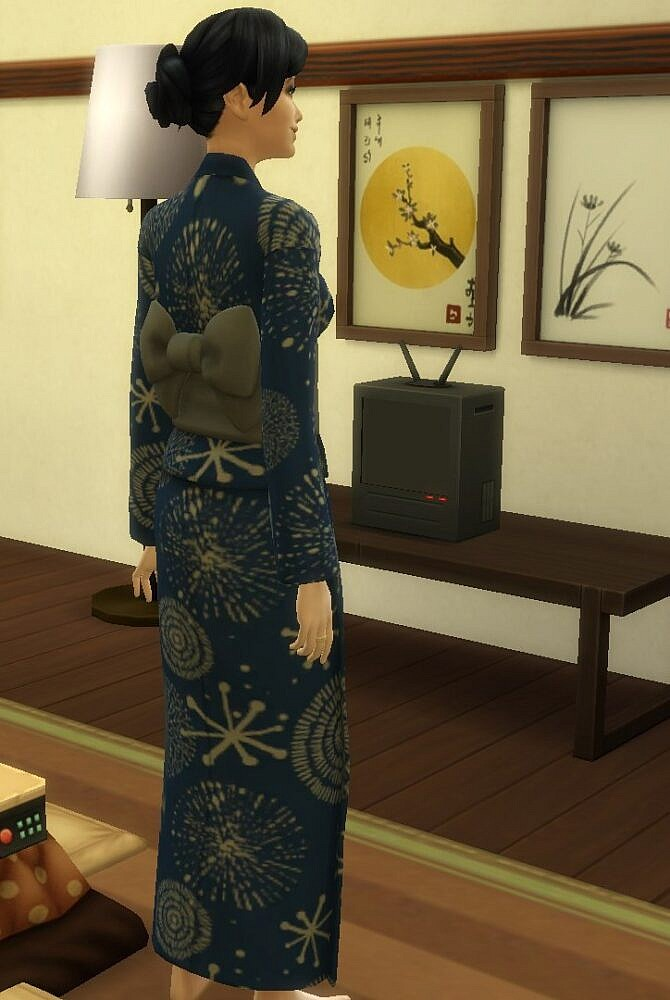 Sims 4 Snowy Escapes Yukata Recolor by Amarise at Mod The Sims 4