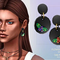 Flower Clay Earrings By Dailystorm