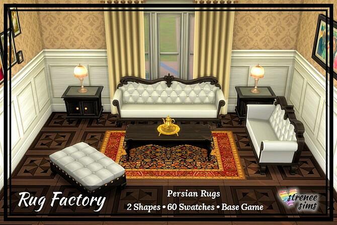 Sims 4 Rug Factory: Persian Rugs at Strenee Sims