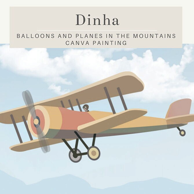 Sims 4 Balloons & Planes in the Mountains at Dinha Gamer