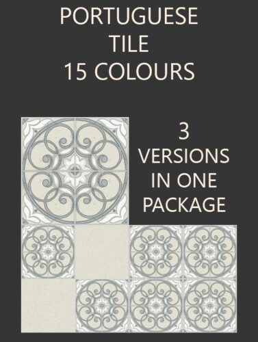 Portuguese Tiles 3 Styles 15 Colours By Simmiller
