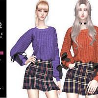 Juko Bow Sweater By Helsoseira