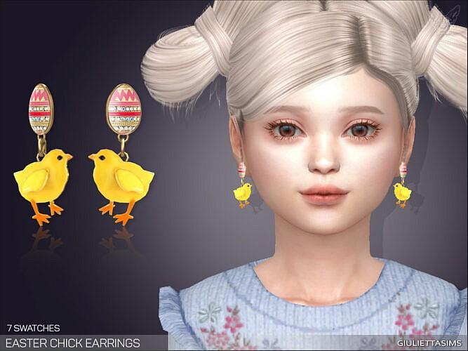 Easter Chicks Earrings For Kids By Feyona