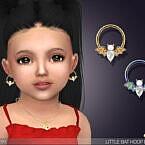 Little Bat Hoop Earrings For Toddlers By Feyona
