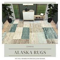 Alaska Rugs: Blue & Beige