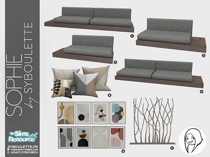 Sophie Living Room Set By Syboubou