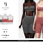 Ruched Strappy Crop Top By Bill Sims