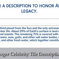 Longer Celebrity Tile Descriptions By Lazarusinashes