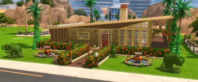 Sims 4 The El Dorado Mid Century Modern Home by DominoPunkyHeart at Mod The Sims 4