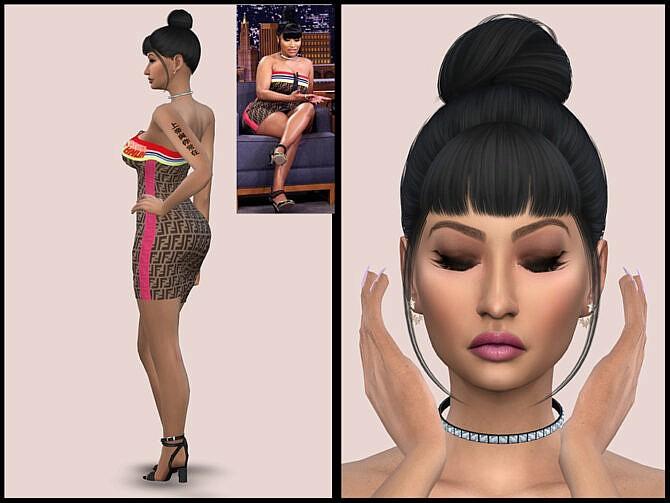 Sims 4 Nicki Minaj by YNRTG S at TSR