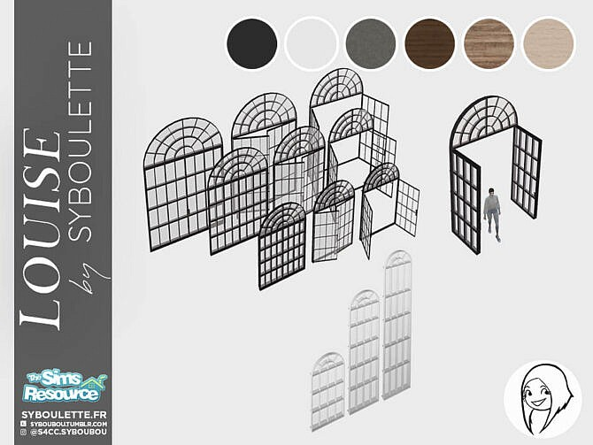 Sims 4 Louise set Part 2 by Syboubou at TSR