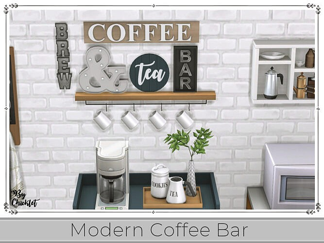 Modern Coffee Bar By Chicklet