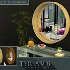 Round Mirror With Functional Glass Shelf By Tyravb