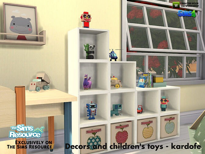 Sims 4 Decor and toys for kids by kardofe at TSR