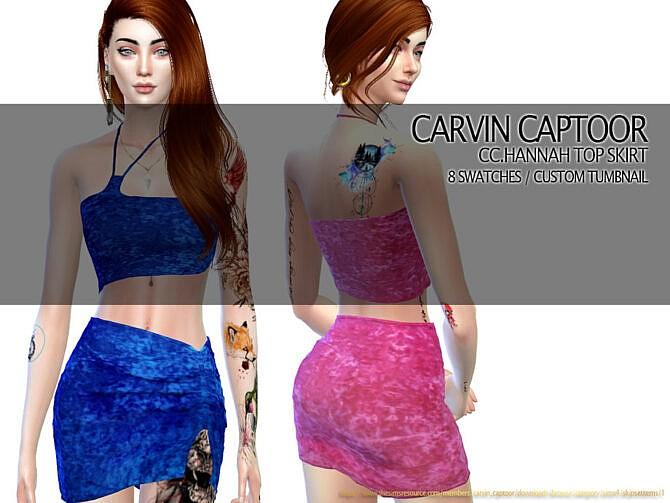 Sims 4 Hannah Skirt Set by carvin captoor at TSR