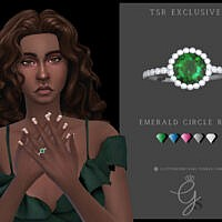 Emerald Circle Engagement Ring By Glitterberryfly