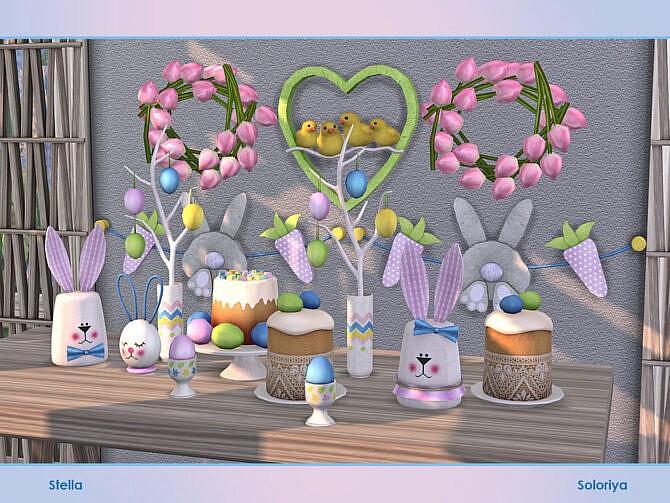 Sims 4 Stella Easter set by soloriya at TSR
