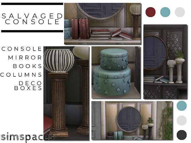 Sims 4 Salvaged Console set by simspaces at TSR