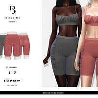 Ruched Cycle Shorts By Bill Sims