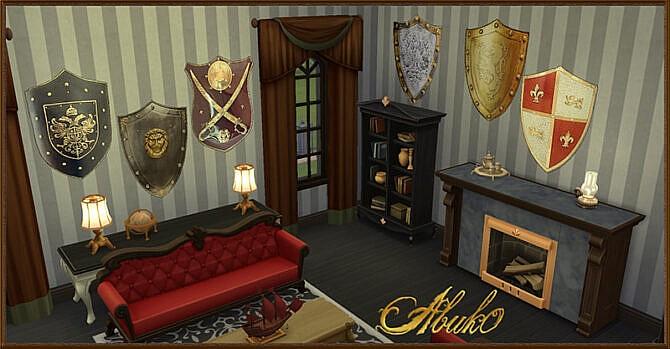 Sims 4 20 wall deco masks at Abuk0 Sims4