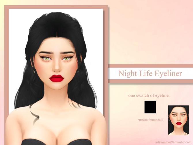 Sims 4 Night Life Eyeliner by LadySimmer94 at TSR