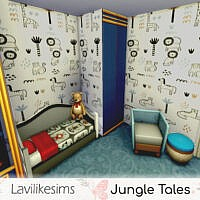 Jungle Tales Walls By Lavilikesims
