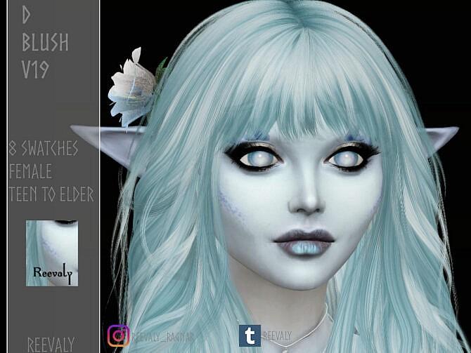 Sims 4 D Blush V19 by Reevaly at TSR