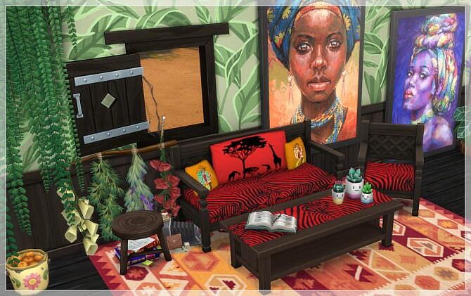 Sims 4 AFRICA Livingroom 2021 at Annett's Sims 4 Welt