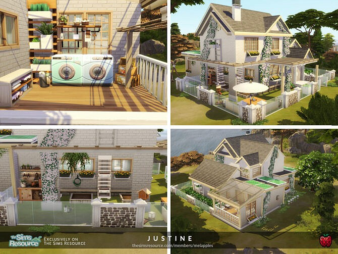 Sims 4 Justine home by melapples at TSR