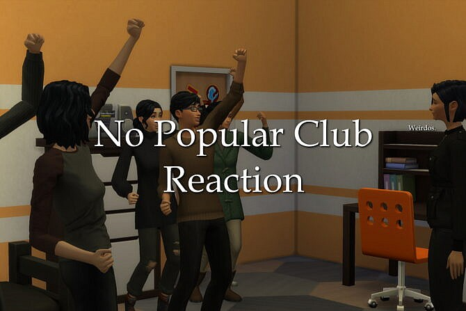 Sims 4 No Popular Club Reaction by lazarusinashes at Mod The Sims 4