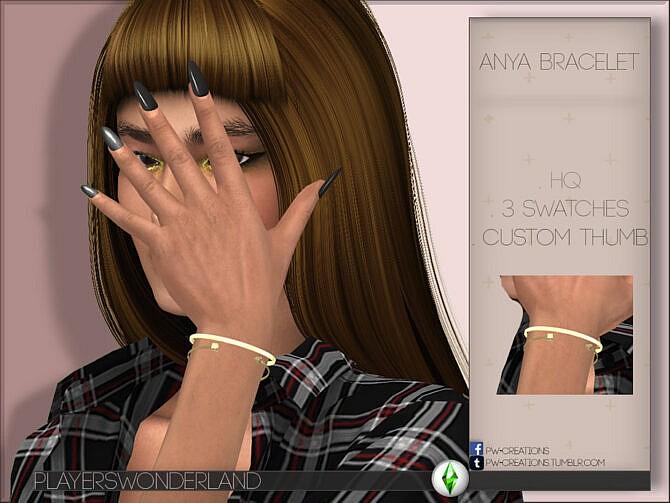 Sims 4 Anya Bracelet by PlayersWonderland at TSR