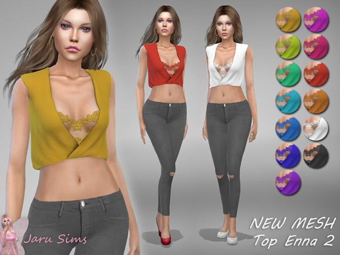 Sims 4 Top Enna 2 by Jaru Sims at TSR