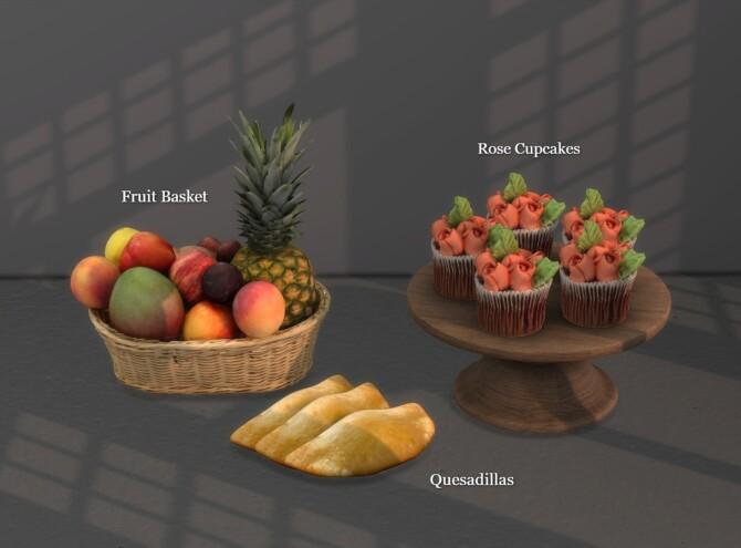 Fruit Basket + Rose Cupcakes + Quesadillas