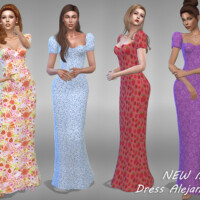 Dress Alejandra 1 By Jaru Sims