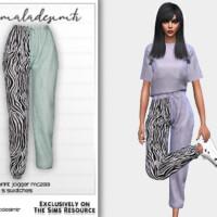 Set Zebra Print Jogger Mc233 By Mermaladesimtr