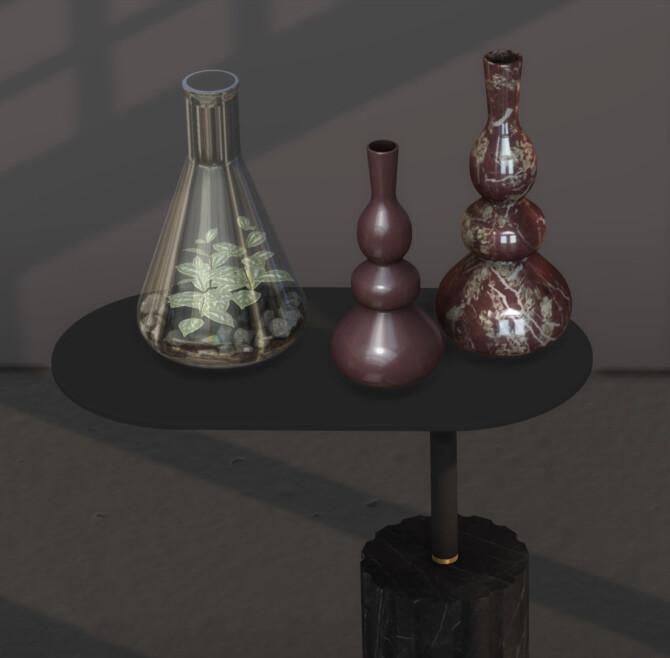 Sims 4 Moment set: table, vases & terrarium (P) at Leo Sims