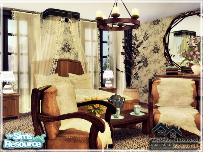 Sims 4 WANDA bedroom by marychabb at TSR