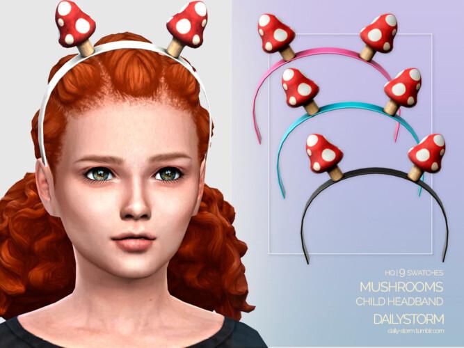 Mushrooms Headband Child By Dailystorm