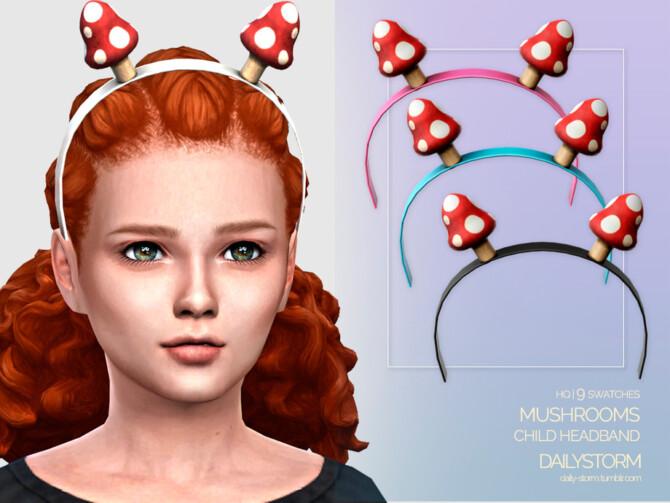 Sims 4 Mushrooms Headband Child by DailyStorm at TSR