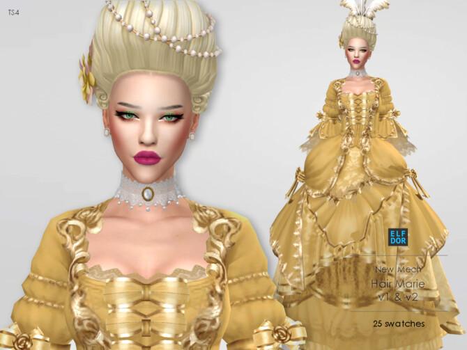 Sims 4 Hair Marie at Elfdor Sims