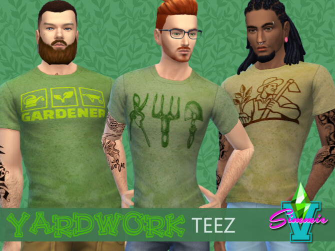Sims 4 Yardwork Teez by SimmieV at TSR