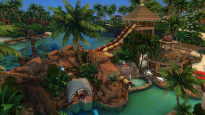 Sims 4 Adorable Beach Waterpark 50x50 by bradybrad7 at Mod The Sims 4