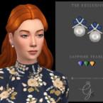 Sapphire Pearl Earrings By Glitterberryfly