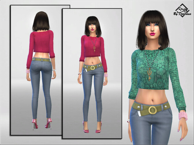 Sims 4 Spring Pullover by Devirose at TSR