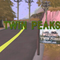 Twin Peaks Town Sign By Staberinde