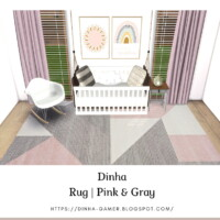 Rug | Pink & Gray