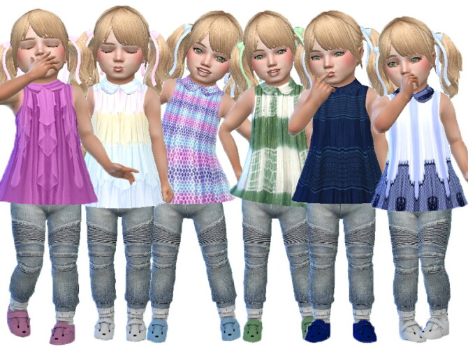Sims 4 Amber toddler top by TrudieOpp at TSR
