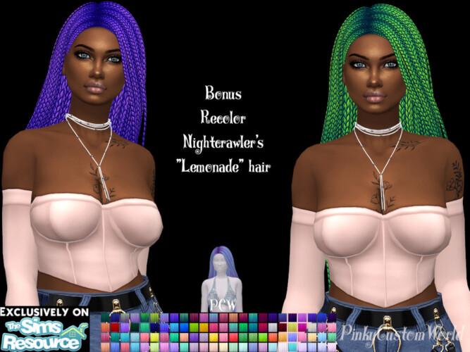 Bonus Recolor Of Nightcrawler's Lemonade Hair By Pinkycustomworld