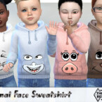 Animal Face Sweatshirt By Pelineldis